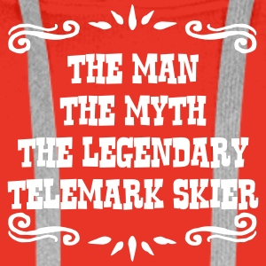 waterskier the man myth legendary legend premium h - Men's Premium Hoodie