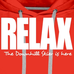 relax the freestyle skier is here premium hoodie - Men's Premium Hoodie