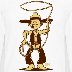 Cowboy with a lasso Long sleeve shirts - Men's Premium Longsleeve Shirt