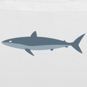 Grey shark Bags & Backpacks - Tote Bag