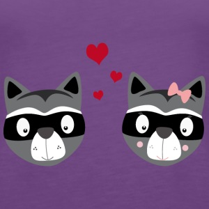 Raccoon couple Tops - Women's Premium Tank Top