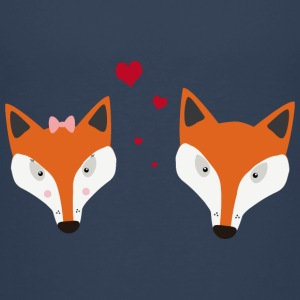 Foxes in love Shirts - Teenage Premium T-Shirt