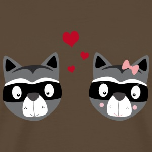Raccoon couple T-Shirts - Men's Premium T-Shirt