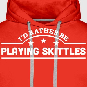 id rather be playing skittles banner cop premium h - Men's Premium Hoodie