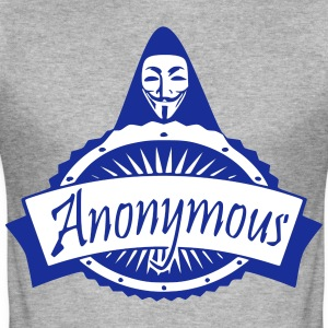 anonymous - Männer Slim Fit T-Shirt