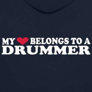 MY HEART BELONGS TO A DRUMMER Hoodies & Sweatshirts - Contrast Colour Hoodie