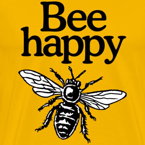 Bee Happy Imker Spruch Design (zweifarbig)
