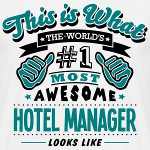 hotel manager world no1 most awesome cop T-SHIRT - Men's T-Shirt