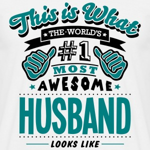 husband world no1 most awesome T-SHIRT - Men's T-Shirt