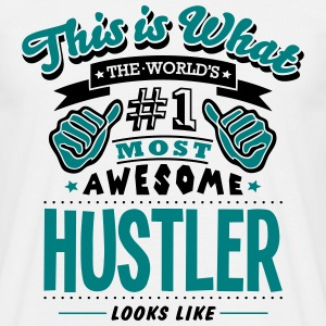 hustler world no1 most awesome T-SHIRT - Men's T-Shirt