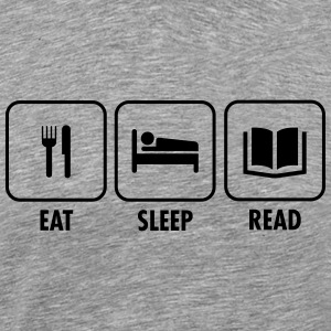 Eat - Sleep - Read T-shirts - Mannen Premium T-shirt