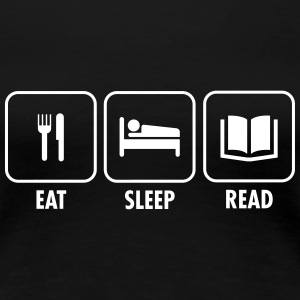 Eat - Sleep - Read T-shirts - Premium-T-shirt dam