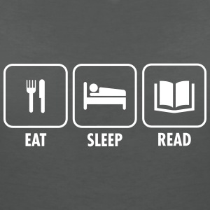 Eat - Sleep - Read T-Shirts - Frauen T-Shirt mit V-Ausschnitt