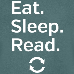 Eat - Sleep - Read - Repeat T-shirts - T-shirt med v-ringning herr