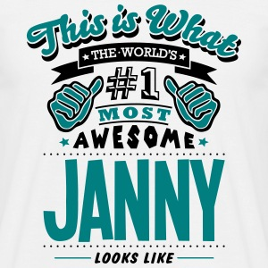 janny world no1 most awesome T-SHIRT - Men's T-Shirt