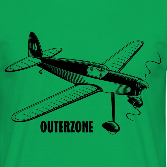 Outerzone t-shirt, black logo