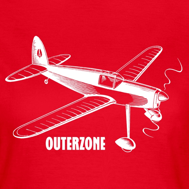 Outerzone t-shirt, white logo (women)