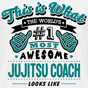 jujitsu coach world no1 most awesome cop T-SHIRT - Men's T-Shirt
