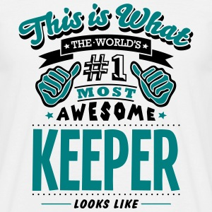 keeper world no1 most awesome T-SHIRT - Men's T-Shirt