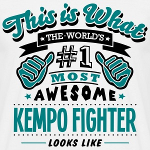 kempo fighter world no1 most awesome cop T-SHIRT - Men's T-Shirt