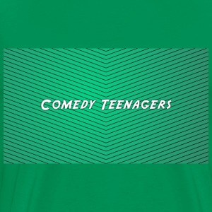 Green Comedy Teenagers T Shirt - Premium-T-shirt herr