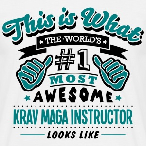 krav maga instructor world no1 most awes T-SHIRT - Men's T-Shirt
