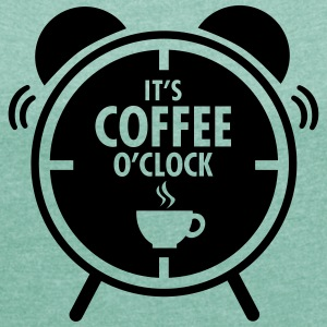 It's Coffee O'Clock T-Shirts - Women's T-shirt with rolled up sleeves