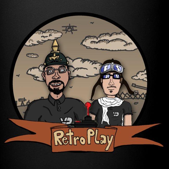 """Tasse """"RetroPlay Erster Weltkrieg"""" farbig, Rechtshänder"""