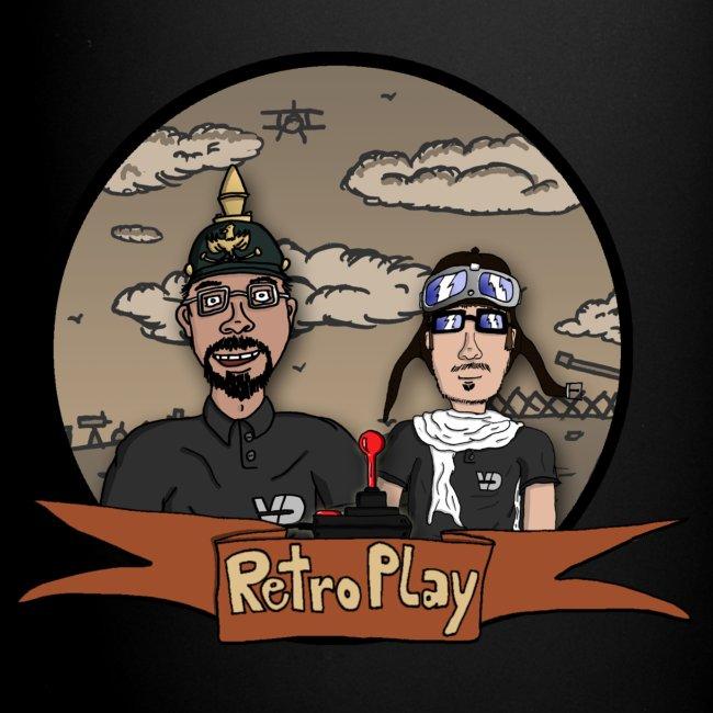 "Tasse ""RetroPlay Erster Weltkrieg"" farbig, Linkshänder"