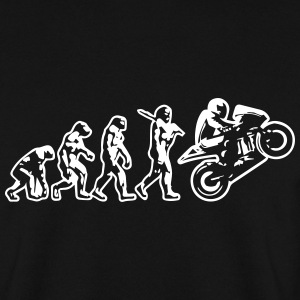 Motorbike Motorcycle Wheelie Evolution Sweatshirt - Men's Sweatshirt