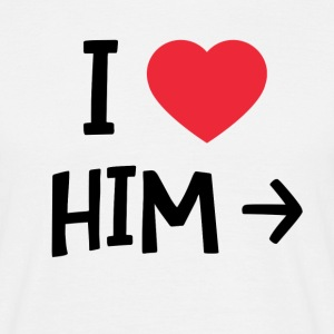i love him - T-shirt Homme