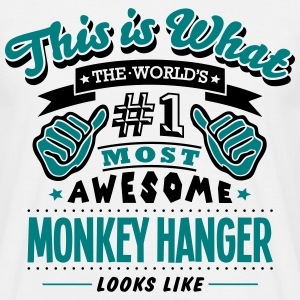 monkey hanger world no1 most awesome cop T-SHIRT - Men's T-Shirt