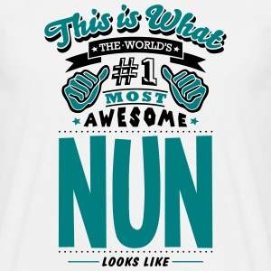 nun world no1 most awesome T-SHIRT - Men's T-Shirt