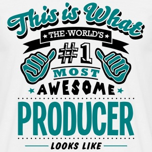 producer world no1 most awesome T-SHIRT - Men's T-Shirt