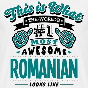 romanian world no1 most awesome T-SHIRT - Men's T-Shirt
