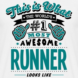 runner world no1 most awesome T-SHIRT - Men's T-Shirt