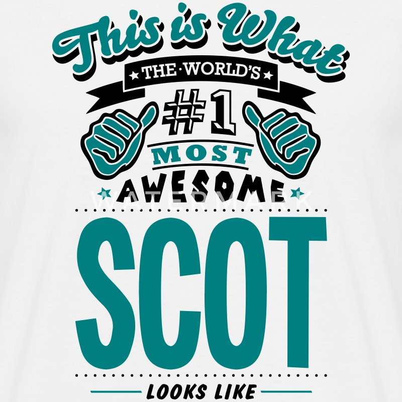 scot world no1 most awesome T-SHIRT - Men's T-Shirt