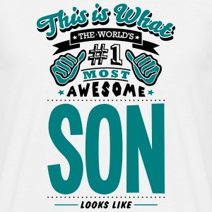 son world no1 most awesome T-SHIRT - Men's T-Shirt