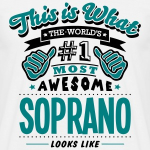 soprano world no1 most awesome T-SHIRT - Men's T-Shirt