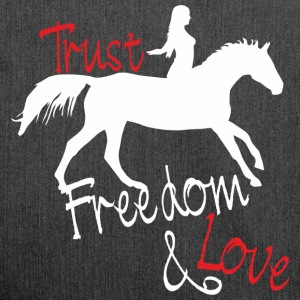 Trust - Freedom - Love Bags & Backpacks - Shoulder Bag made from recycled material