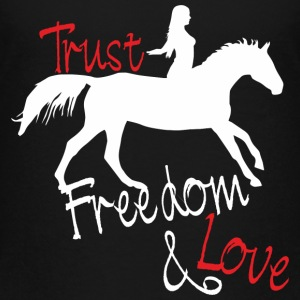 Trust - Freedom - Love Shirts - Teenager Premium T-shirt