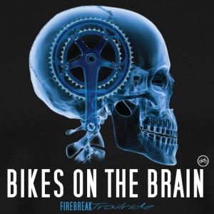 Bike on the Brain T Shirt - Men's Premium T-Shirt