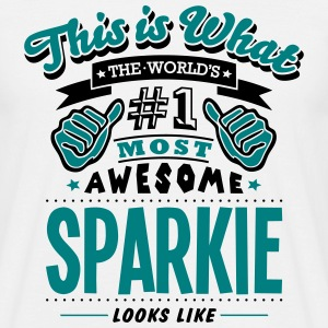 sparkie world no1 most awesome T-SHIRT - Men's T-Shirt