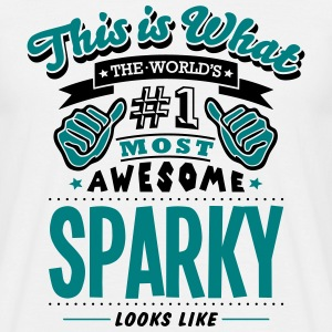 sparky world no1 most awesome T-SHIRT - Men's T-Shirt
