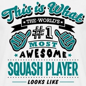 squash player world no1 most awesome cop T-SHIRT - Men's T-Shirt