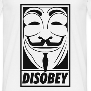 Anonymous disobey T-Shirts - Camiseta hombre