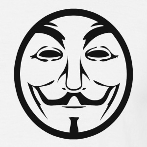 Anonymous coin T-Shirts - Herre-T-shirt