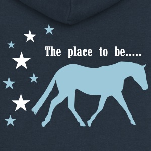 The Pleace to be -- Horse Bluzy - Rozpinana bluza damska z kapturem Premium