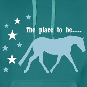 The Pleace to be -- Horse Hoodies & Sweatshirts - Men's Premium Hoodie
