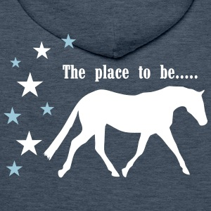 The Pleace to be -- Horse Sweatshirts - Herre Premium hættetrøje